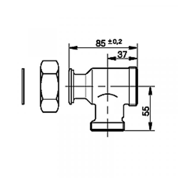 Viessmann T-Stück mit Rückschlagklappe