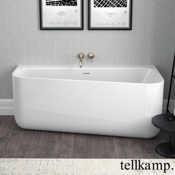 Tellkamp Koeko Vorwand-Badewanne mit Verkleidung 155x75 cm mit Schlitzüberlauf