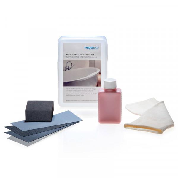repaBAD Acrylpflege-Set für Badewannen und Duschwannen
