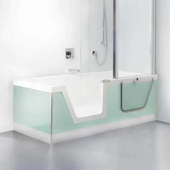 Duscholux Step-In Pure Badewanne 170 cm, Einbau Ecke links
