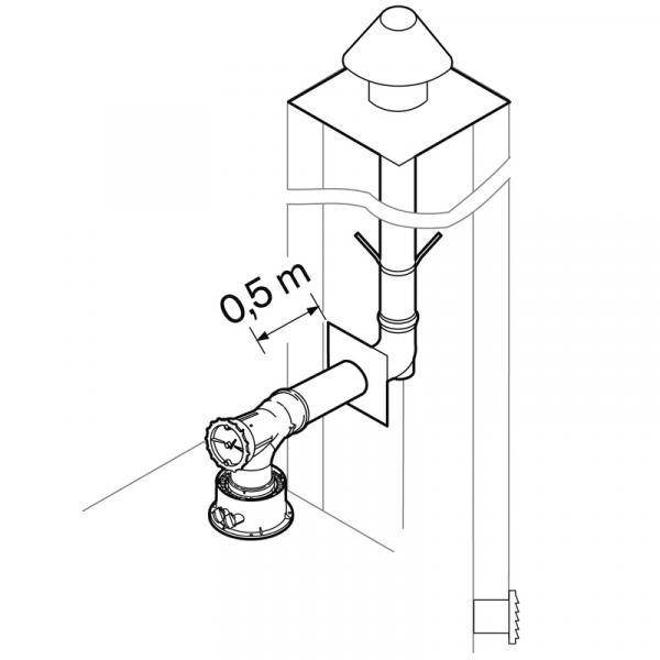 Weishaupt Abgassystem DN60 raumluftabhängig 10 m starr, INOX