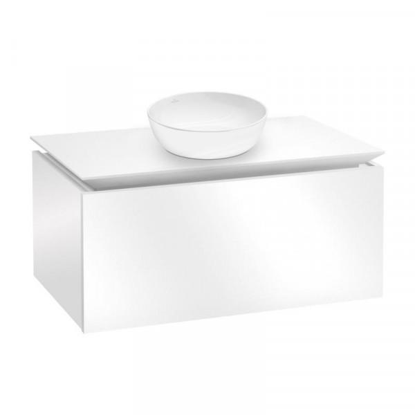 Villeroy & Boch Artis Aufsatzwaschtisch mit Legato Waschtischunterschrank 80 cm mit 1 Auszug