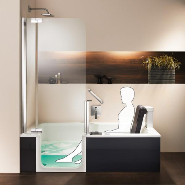 Artweger Artlift Duschbadewanne mit Vorrüstsatz für Hebesitz