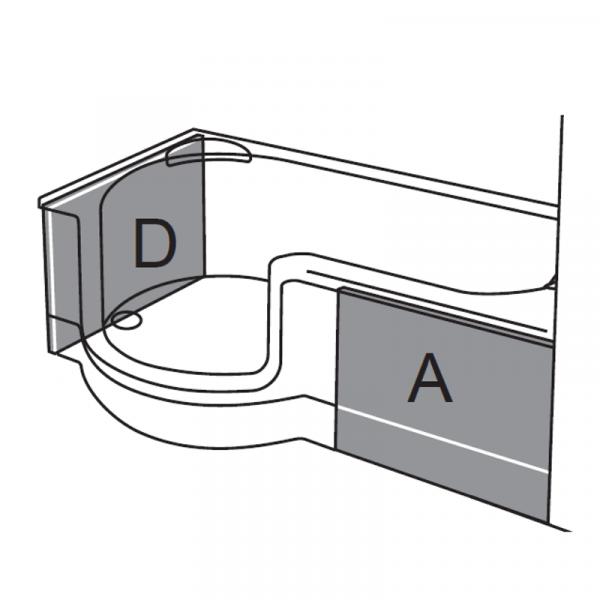 Artweger Twinline 1 Schürze 03 für Duschtür mit Seitenwand