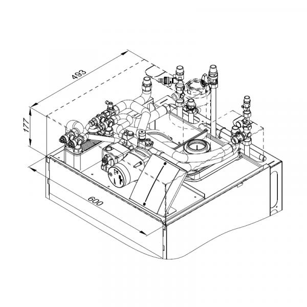Viessmann Aufbau-Kit mit Mischer für Aufputzinstallation Vitodens 343-F