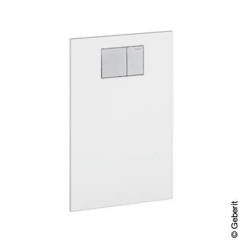Geberit AquaClean Designplatte aus Glas für Aufsätze an Geberit UP-Spülkasten weiß