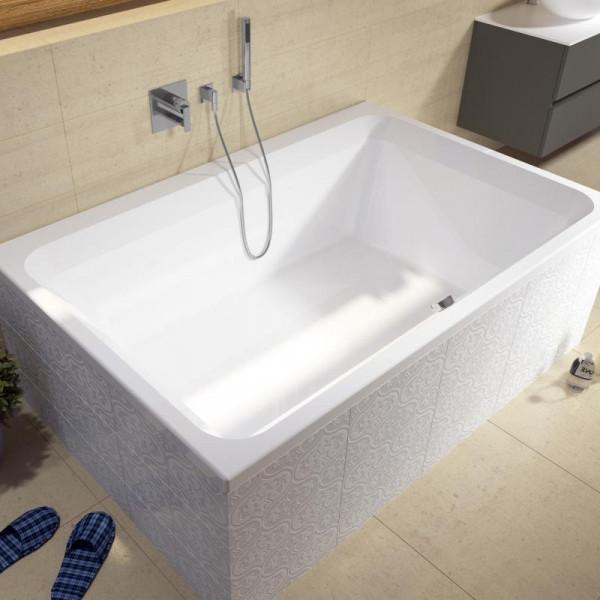 Riho Castello Rechteck-Badewanne 180x120 cm weiß