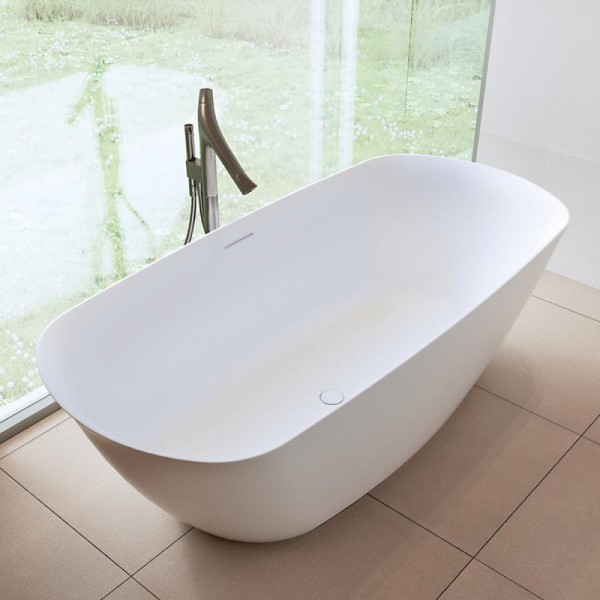Riho Bilo freistehende Badewanne 165x77x55 cm weiss seidenmatt