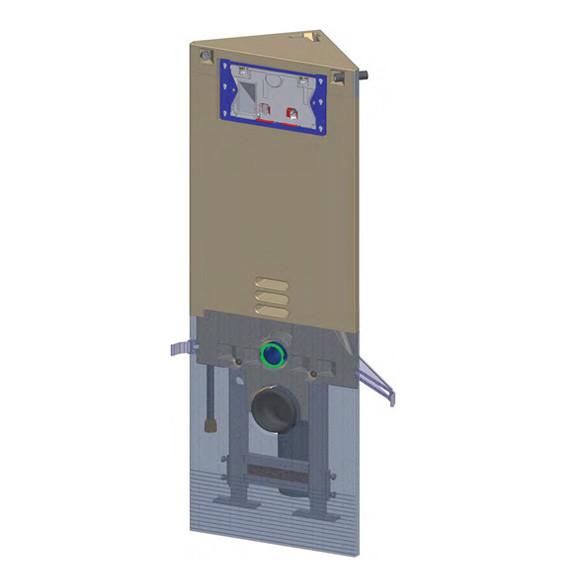 Grumbach Eck-WC-Stein 108 cm für Betätigungsplatten Sigma