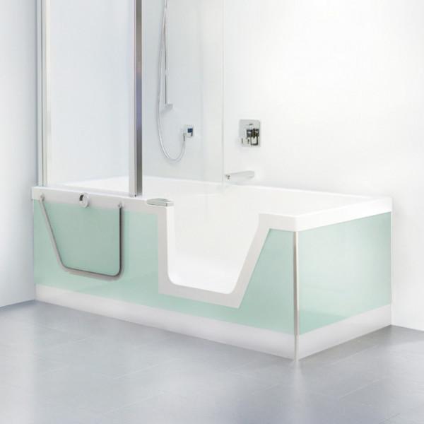 Duscholux Step-In Pure Badewanne 170 cm, Raumecke links