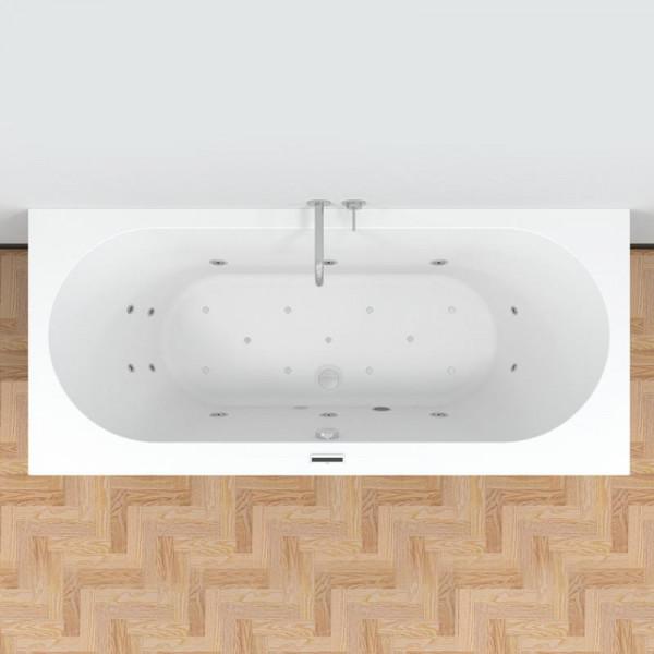 Riho Carolina Easypool 3.0 Rechteck-Whirlpool mit Bloutooth Lautsprecher und LED Farblicht