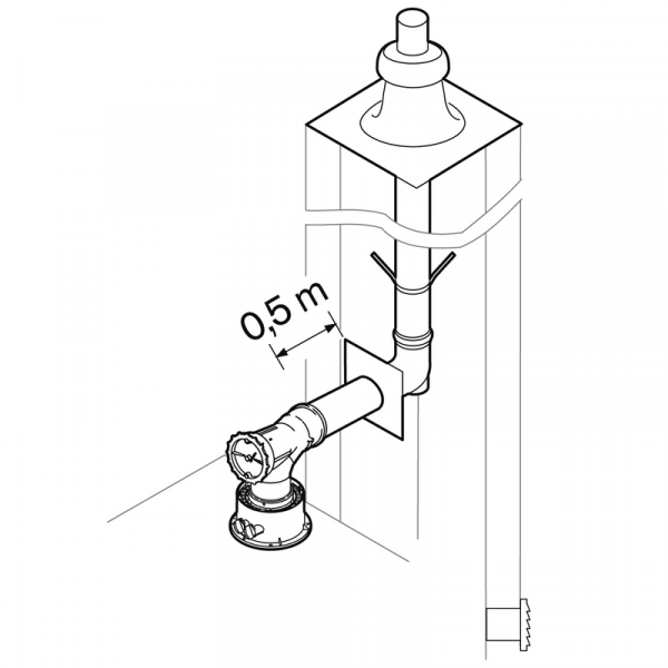 Weishaupt Abgassystem DN80 raumluftabhängig 10 m starr