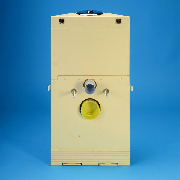 Grumbach Eck-WC-Stein 74 cm hoch für Betätigungstaste Classic 150 von Grumbach, Betätigung von oben