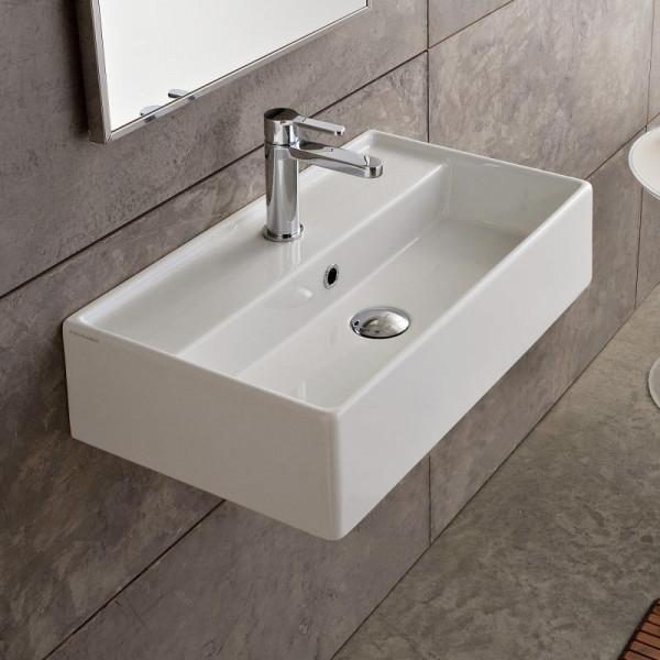 Scarabeo Teorema R Aufsatz- oder Hängewaschbecken 60 x 34 cm weiß