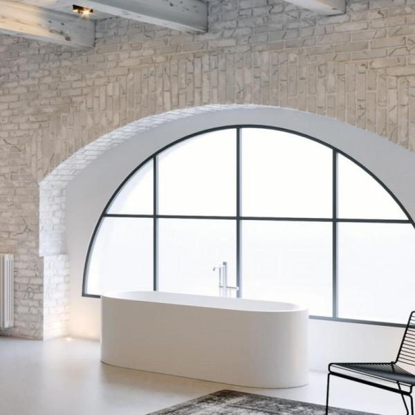 Riho Essence freistehende Badewanne 170 x 72 x 55 cm weiss seidenmatt