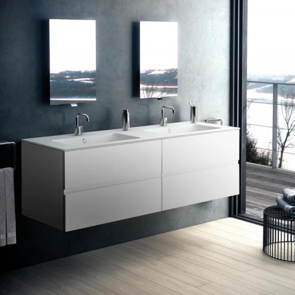 Cosmic Mod Doppelwaschtisch mit Waschtischunterschrank mit 4 Auszügen