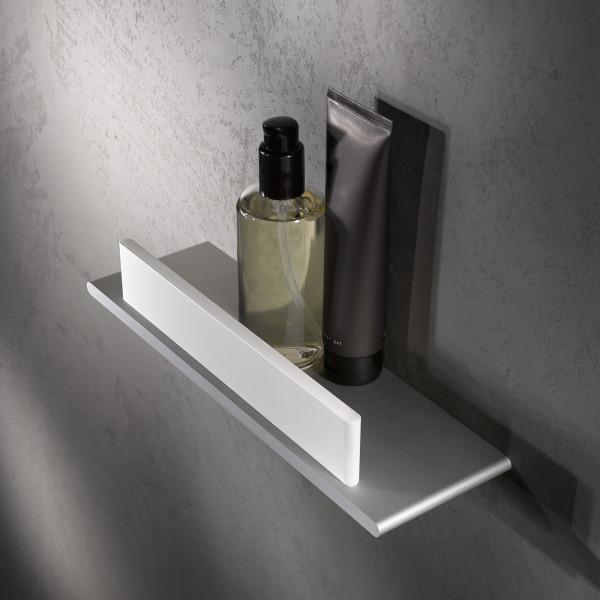 Keuco Duschablage Edition 400 11559 mit Glasabzieher weiß