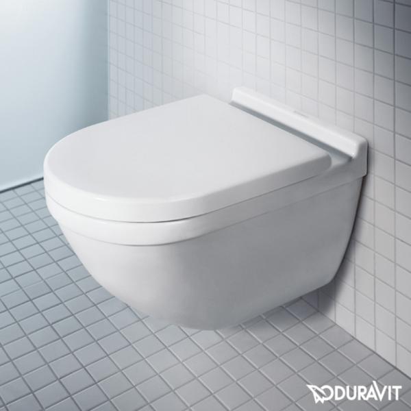 Duravit Starck 3 Wand-Tiefspül-WC rimless Set mit SoftClose WC-Sitz