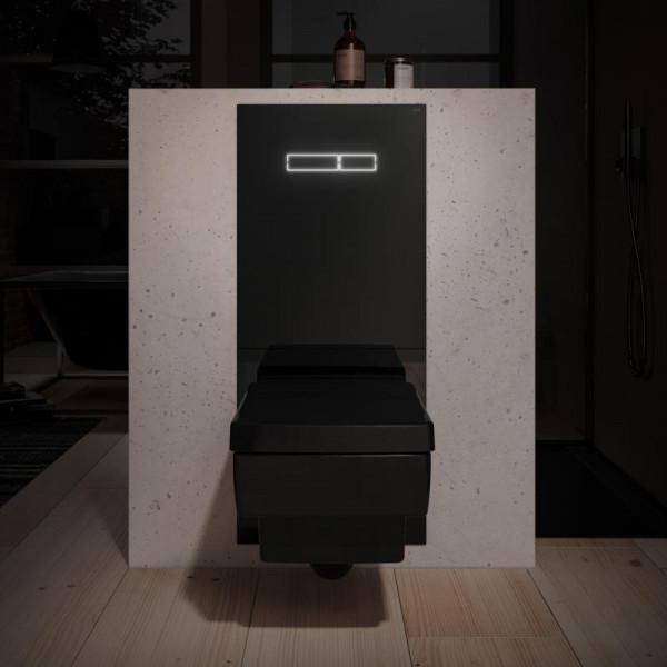 TECE lux Betätigungsglasplatte mit sen-Touch Elektronik Glas schwarz
