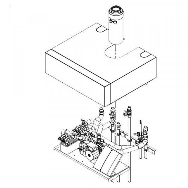 Viessmann Aufbau-Kit mit Mischer für Aufputzinstallation Vitodens 222-F