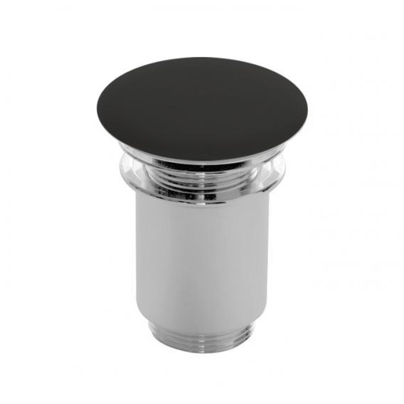 Scarabeo click-clack Ablaufventil mit keramischer Abdeckung schwarz-matt