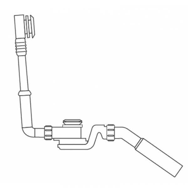 Artweger Freeway Push Control Ablaufgarnitur, anthrazit