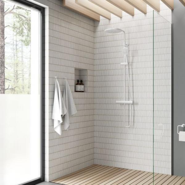 Damixa Silhouet Thermostat Duschsystem weiss-matt