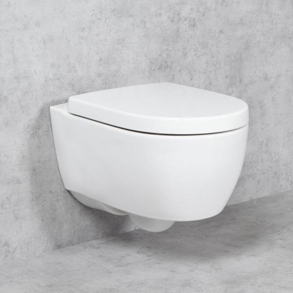 Geberit iCon ohne Spülrand, mit KeraTect, WC-Sitz mit Absenkautomatik Wand-WC-SET