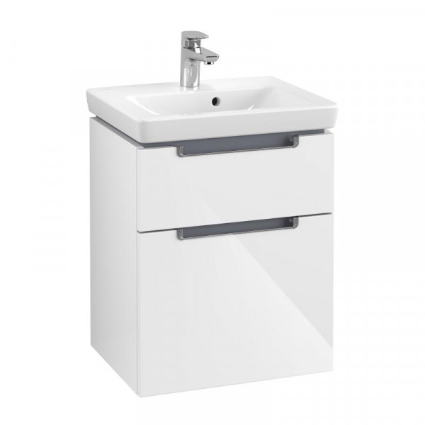Villeroy & Boch Subway 2.0 Handwaschbecken mit Waschtischunterschrank 50 cm mit 2 Auszügen