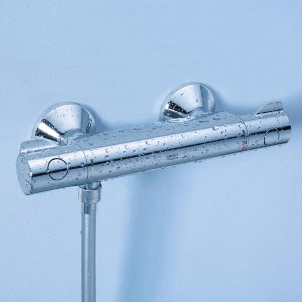 Grohe Grohtherm 800 Thermostat-Brausebatterie für Wandmontage