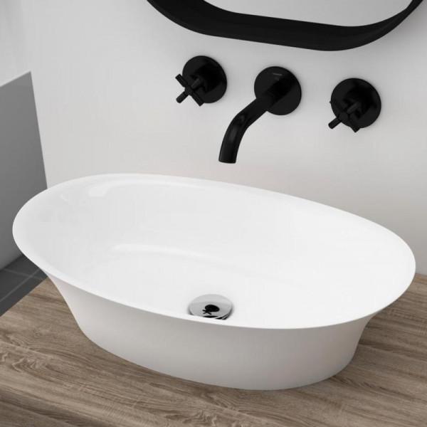 Treos Serie 730 Mineralguss Aufsatz Waschbecken 600 x 360 mm