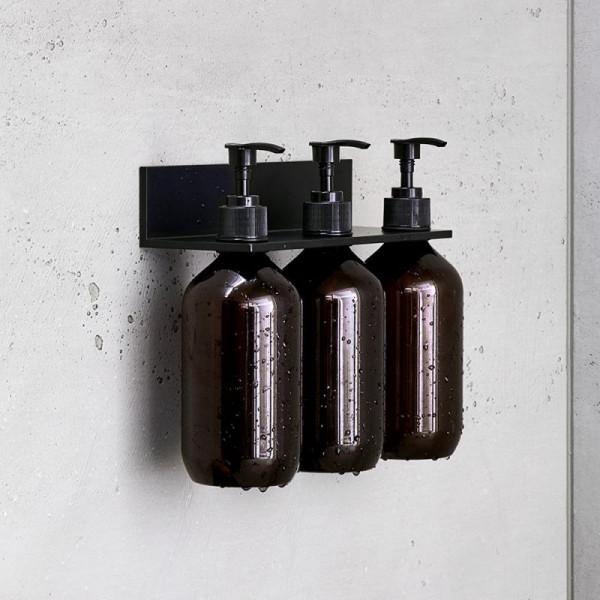 Alape Assist Duschablage mit 3 Seifenspendern mattschwarz