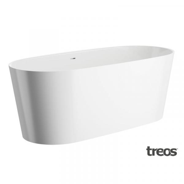 Treos Serie 710 Mineralguss Badewanne freistehend 165 x 72 cm