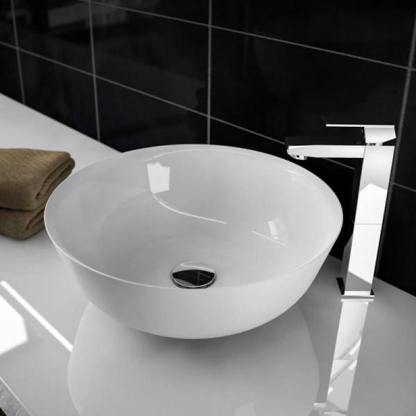 Treos Serie 730 Mineralguss Aufsatz Waschbecken ∅ 415 mm