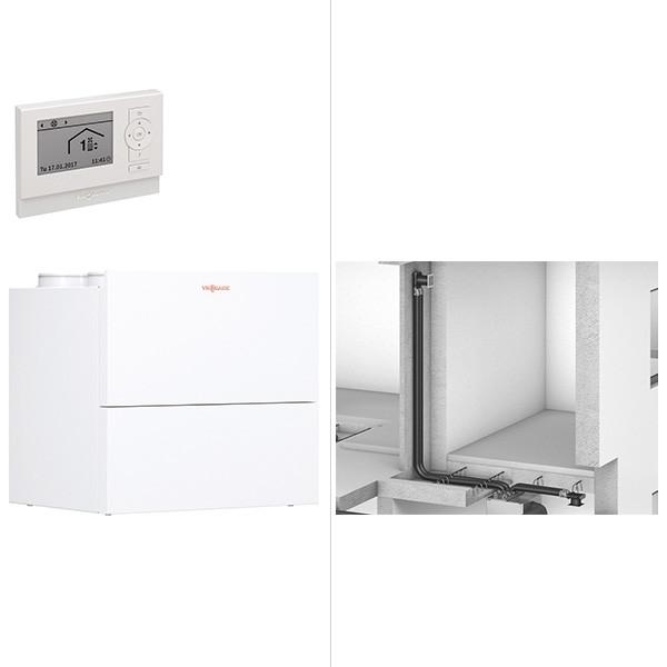 Viessmann Vitovent 300-W Wohnungslüftungs-System mit Rundkanal