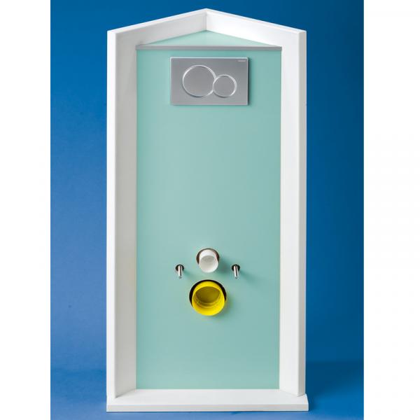 Grumbach Hochwertige Dekorplatten für die Verkleidung der Eck-WC-Steine von vorne und oben