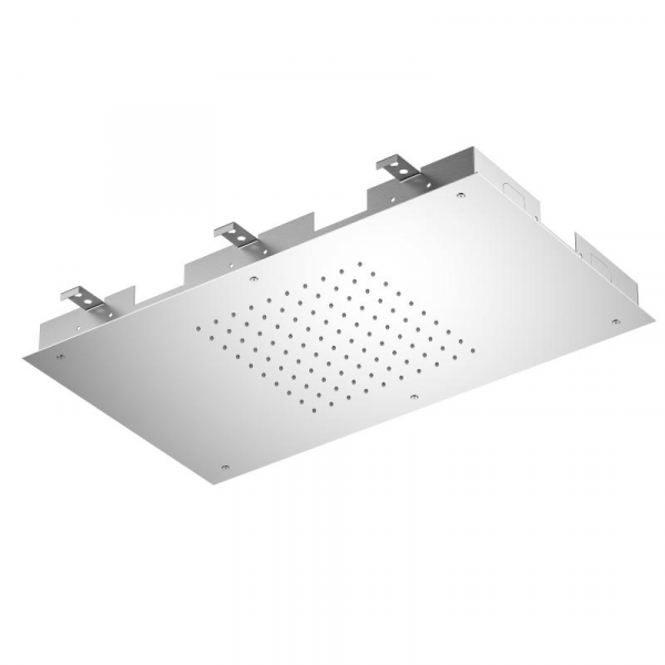 Treos Regenpaneel für Deckeneinabau chrom 700 x 400 mm