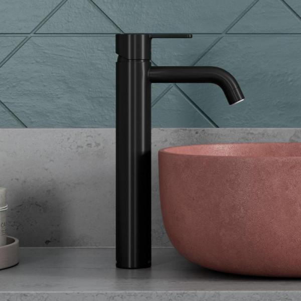 Damixa Silhouet Einhebel-Waschtischarmatur large ohne Ablaufgarnitur schwarz matt