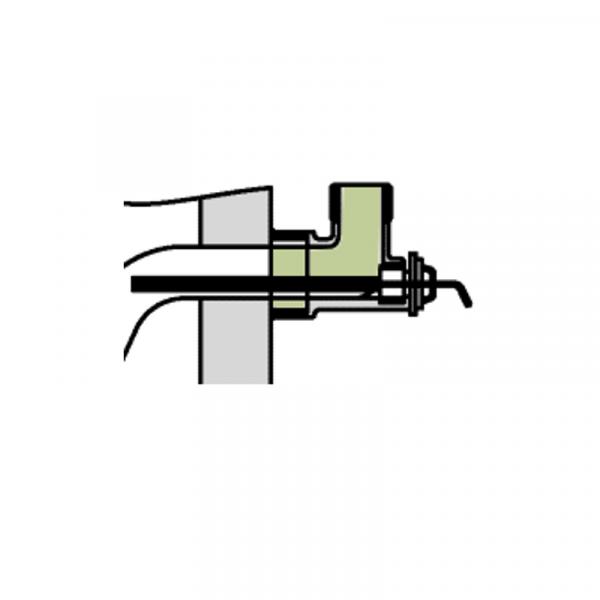 Viessmann Einschraubwinkel mit Tauchhülse Vitocell-V 100 500 l