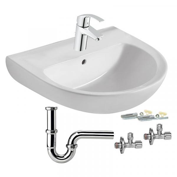 Waschtisch Eurovit Komplett-Set inkl. Armatur und Zubehör