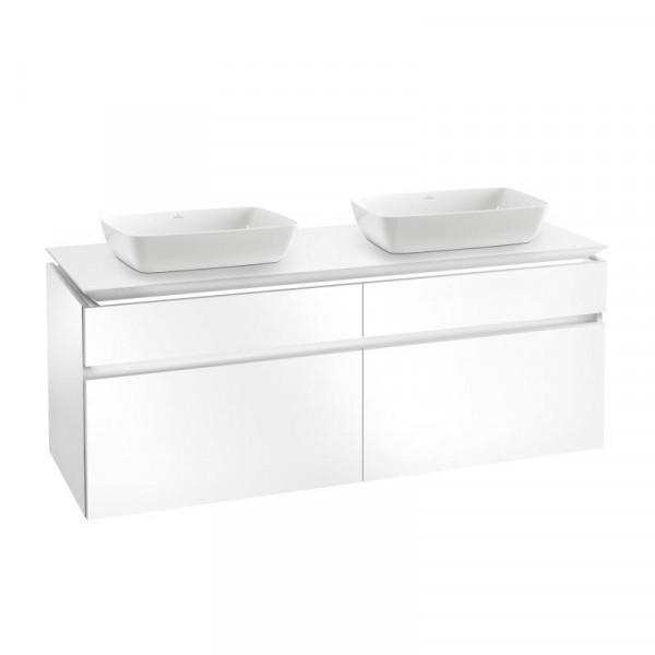 Villeroy & Boch Artis Aufsatzwaschtische mit Legato LED-Waschtischunterschrank 160 cm mit 4 Auszügen