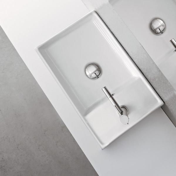 Scarabeo Teorema R41 Aufsatz- oder Hängehandwaschbecken 41 cm weiß