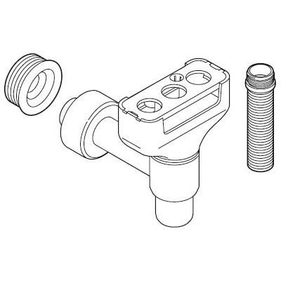 Weishaupt Sammelsiphon-Set mit drehbarem Einlauf- trichter für vier Anschlüsse