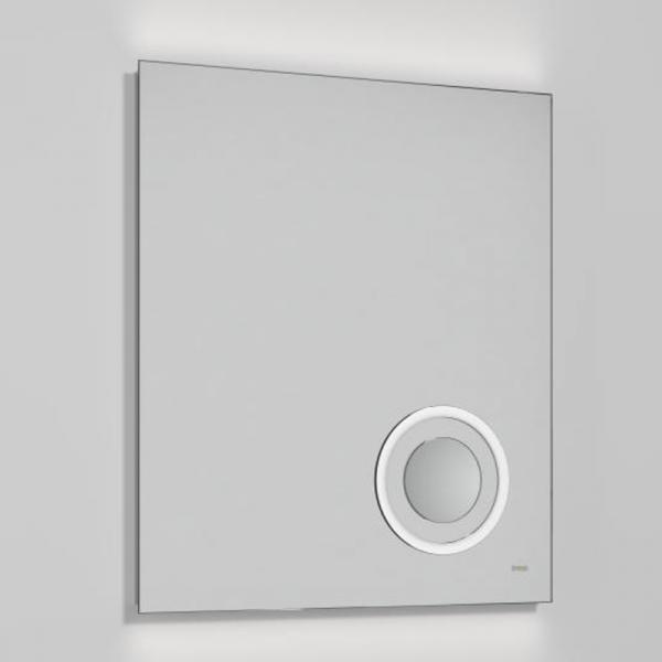 Treos Serie 600 LED Wandspiegel mit integriertem Kosmetikspiegel beleuchtet