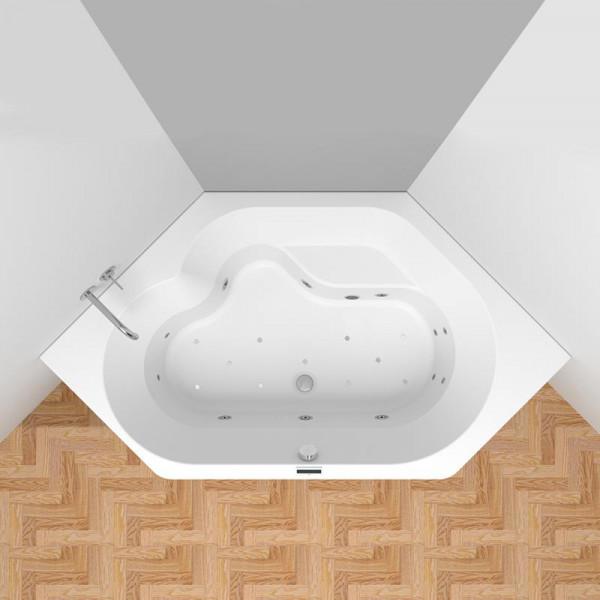 Riho Winnipeg Easypool 3.0 mit Bluetooth Lautsprecher und LED Farblicht 145 x 145 cm