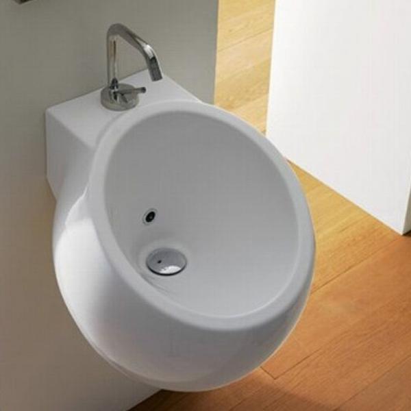 Scarabeo Planet Handwaschbecken weiß 42 x 45 cm