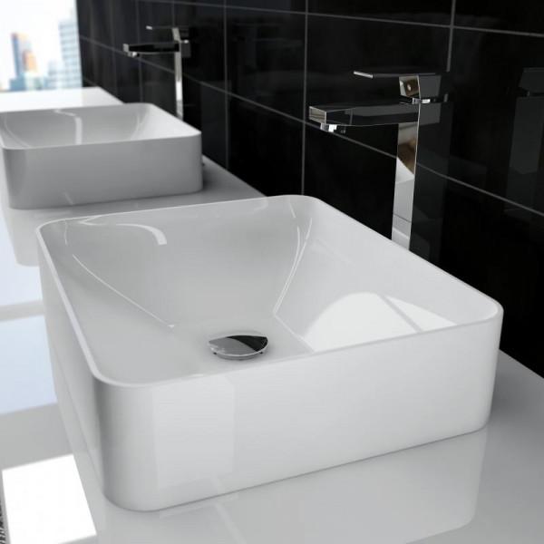 Treos Serie 710 Mineralguss Aufsatz Waschbecken 45 cm