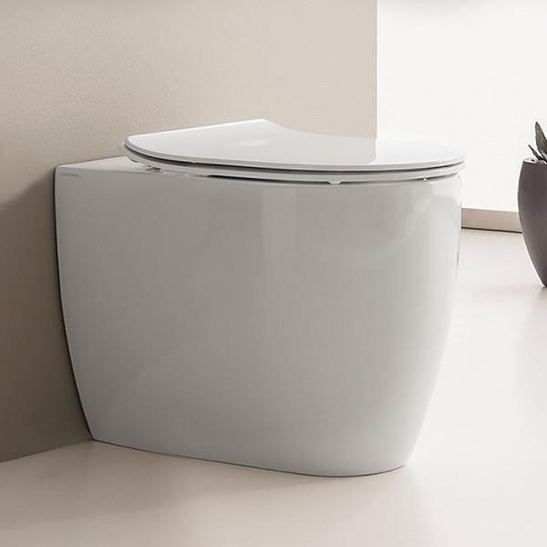 Scarabeo Moon Stand-Tiefspül-WC ohne Spülrand, weiß 54,5 x 36 cm