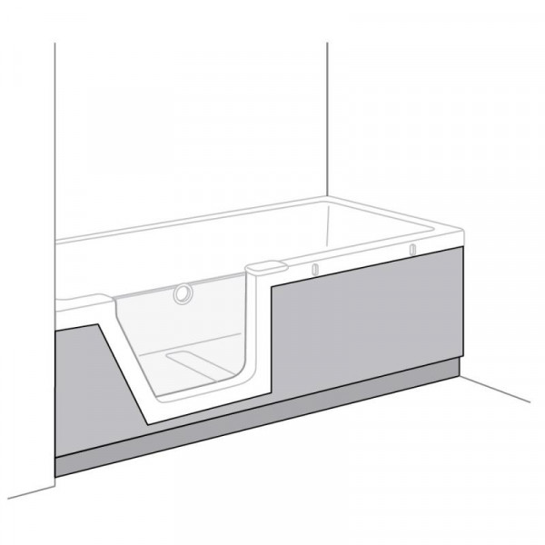 Duscholux Step-In Pure Schürze PanElle, Frontteil für 608300200 L: 170 B: 75 cm