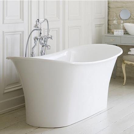 Victoria + Albert Toulouse freistehende Badewanne 181 x 80 cm weiß glanz